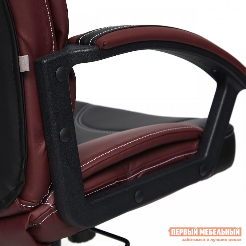 Кресло руководителя  Twister Черная, иск.кожа / Бордо, иск. кожа (фото 6)