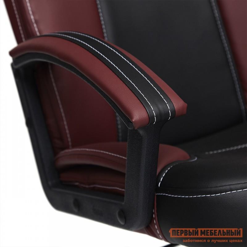 Кресло руководителя  Twister Черная, иск.кожа / Бордо, иск. кожа (фото 7)