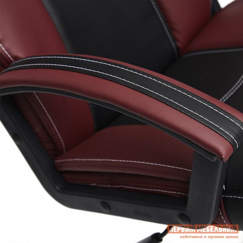 Кресло руководителя  Twister Черная, иск.кожа / Бордо, иск. кожа (фото 8)