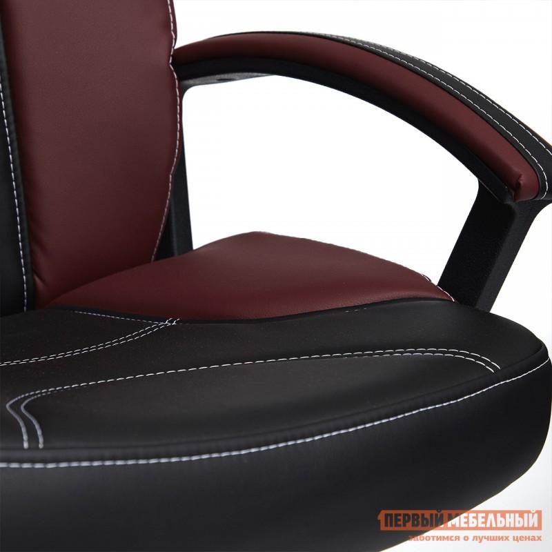 Кресло руководителя  Twister Черная, иск.кожа / Бордо, иск. кожа (фото 9)