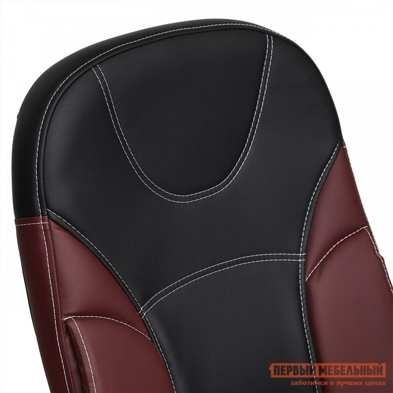 Кресло руководителя  Twister Черная, иск.кожа / Бордо, иск. кожа (фото 10)
