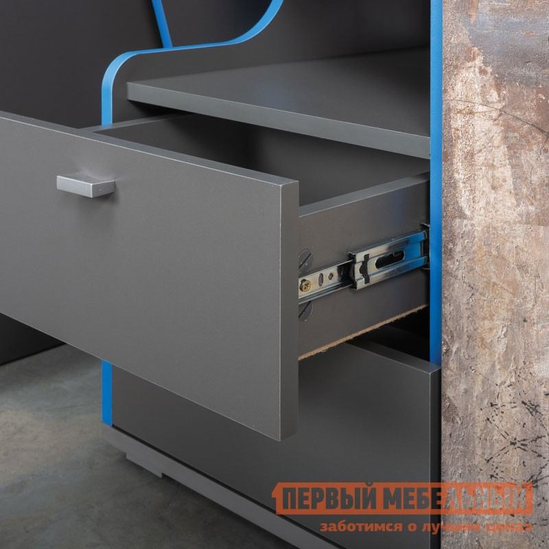 Шкаф детский  Шкаф 2-х створчатый Индиго 10.19 Тёмно-серый / Граффити (фото 4)