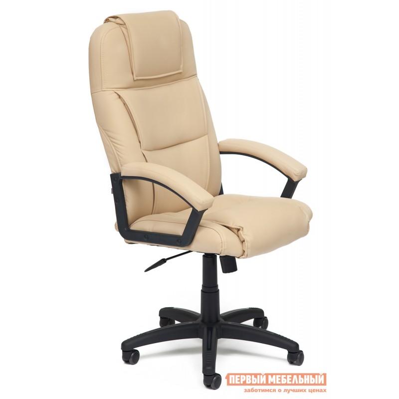 Кресло руководителя  Bergamo Иск. кожа бежевая PU C36-34