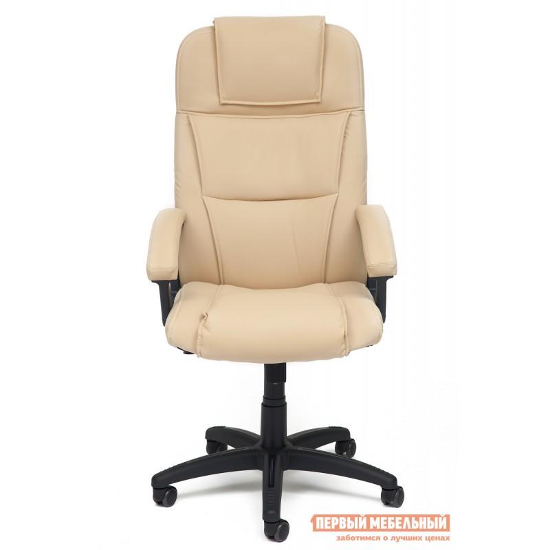 Кресло руководителя  Bergamo Иск. кожа бежевая PU C36-34 (фото 2)