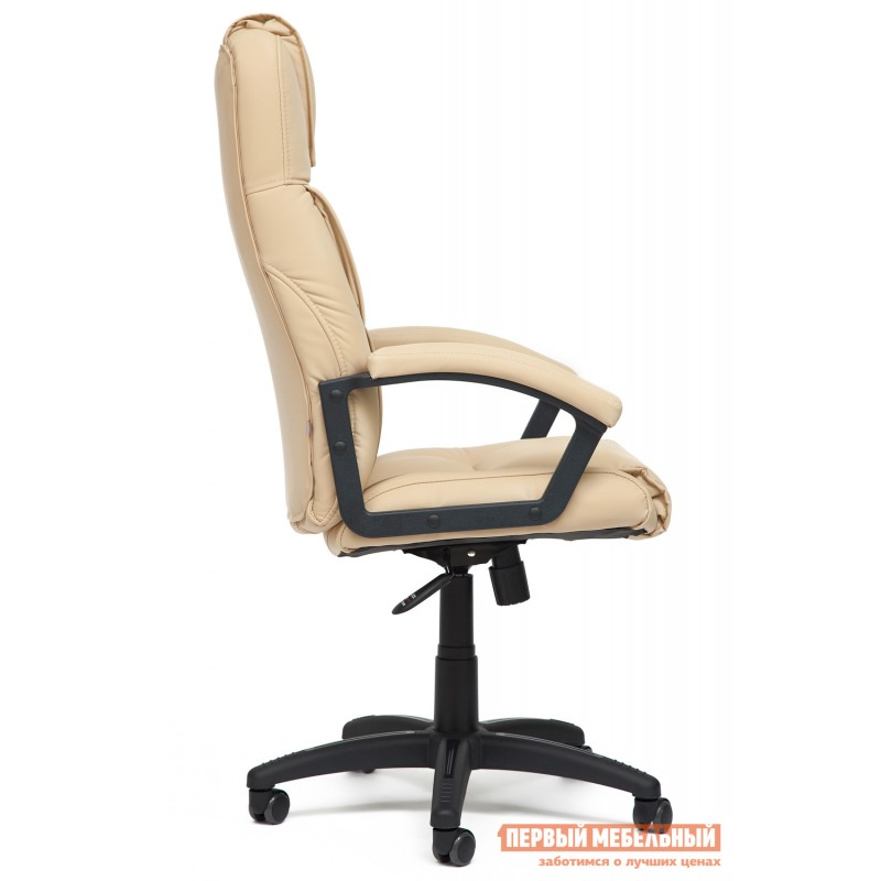 Кресло руководителя  Bergamo Иск. кожа бежевая PU C36-34 (фото 3)