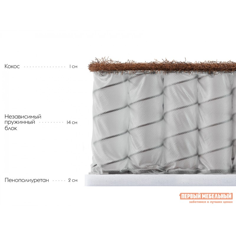 Пружинный матрас  Дофен S 18 90х200 см, Белый (фото 2)