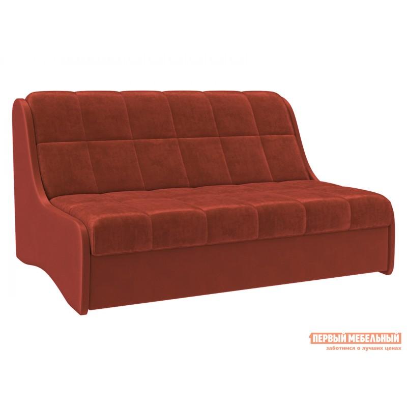 Прямой диван  Диван Токио / Диван Токио Люкс Оранжевый, велюр, 120х200 см, Независимый пружинный блок