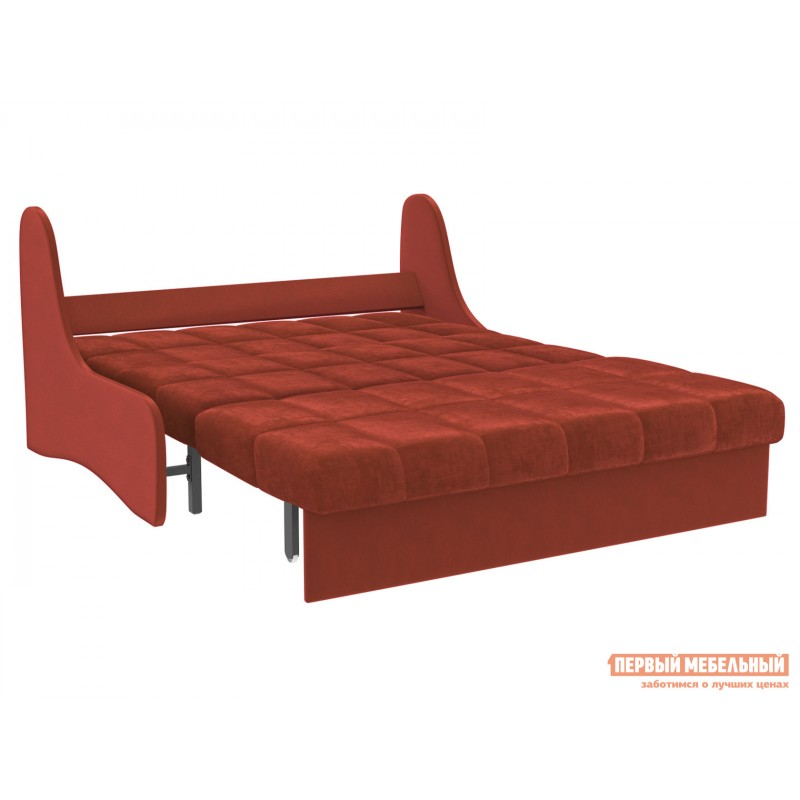 Прямой диван  Диван Токио / Диван Токио Люкс Оранжевый, велюр, 120х200 см, Независимый пружинный блок (фото 2)