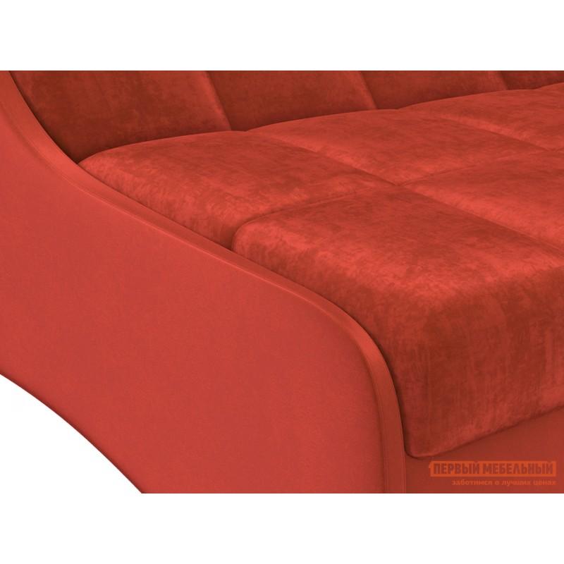 Прямой диван  Диван Токио / Диван Токио Люкс Оранжевый, велюр, 120х200 см, Независимый пружинный блок (фото 3)