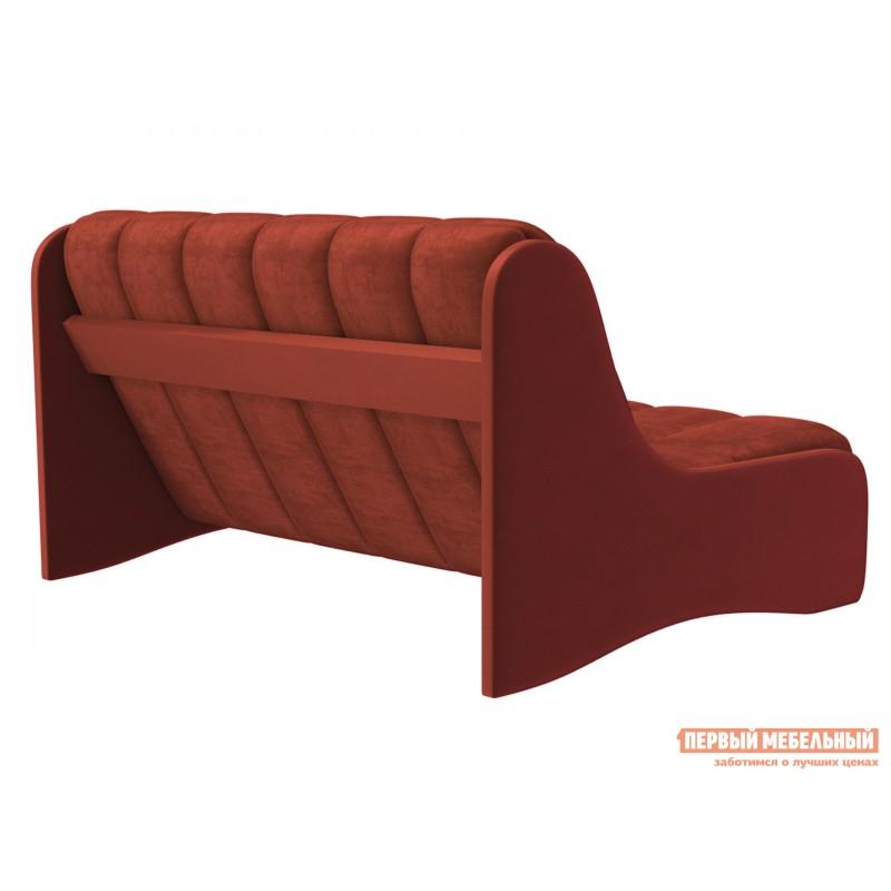 Прямой диван  Диван Токио / Диван Токио Люкс Оранжевый, велюр, 120х200 см, Независимый пружинный блок (фото 4)