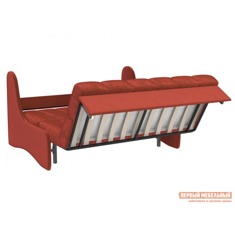 Прямой диван  Диван Токио / Диван Токио Люкс Оранжевый, велюр, 120х200 см, Независимый пружинный блок (фото 5)