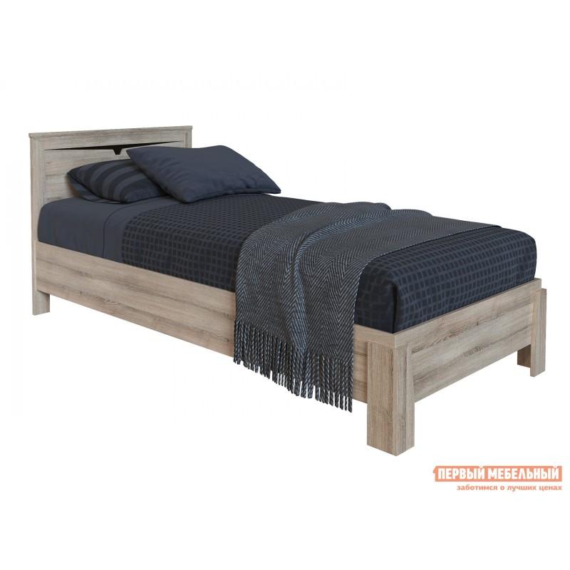 Односпальная кровать  Кровать Гарда NEW Ясень Таормино, С основанием