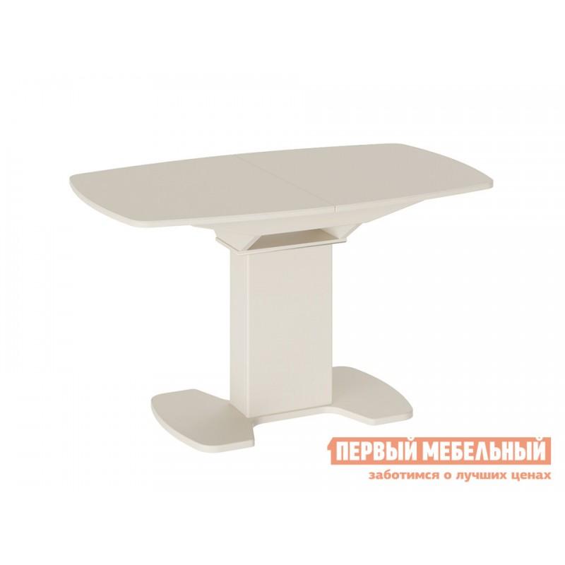 Кухонный стол  Прато 3 Бежевый матовый LUX / Стекло бежевое матовое LUX, Средний