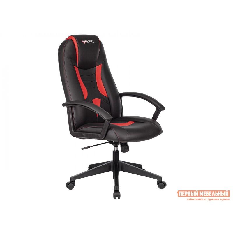 Игровое кресло  Кресло игровое VIKING-8 Черный, экокожа / Красный, экокожа