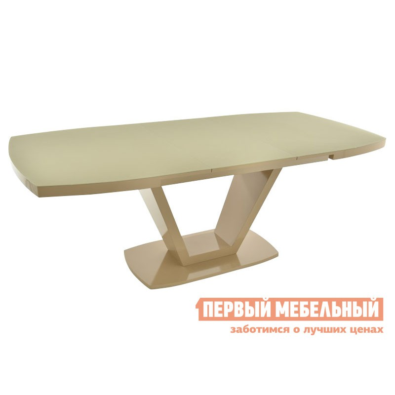 Кухонный стол  Фоджа Капучино / Стекло Opti матте, Большой