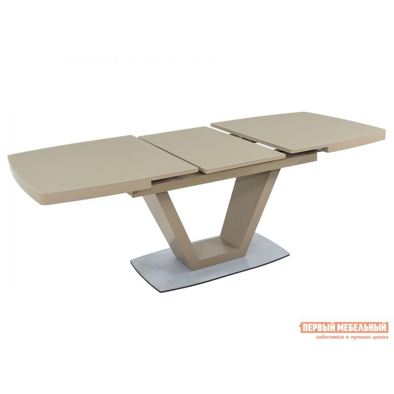 Кухонный стол  Фоджа Капучино / Стекло Opti матте, Большой (фото 4)