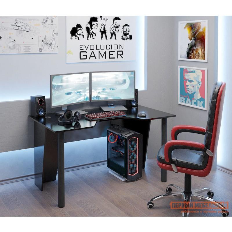 Компьютерный стол  Форсаж-2 Черный (фото 4)