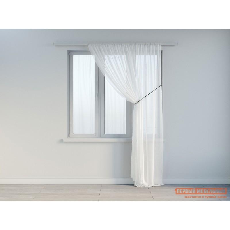Шторы  Вуаль ШТ(вуаль-белый) Размер 300х270 Белый ажурный (фото 2)