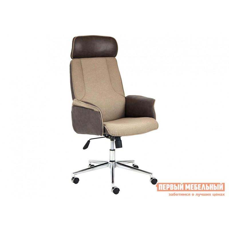 Офисное кресло  Кресло CHARM Экошерсть, кожзам / Коричневый, коричневый / 4230