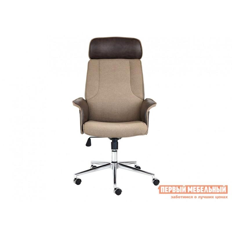 Офисное кресло  Кресло CHARM Экошерсть, кожзам / Коричневый, коричневый / 4230 (фото 2)