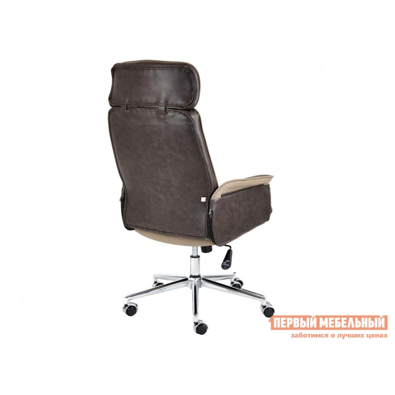 Офисное кресло  Кресло CHARM Экошерсть, кожзам / Коричневый, коричневый / 4230 (фото 3)