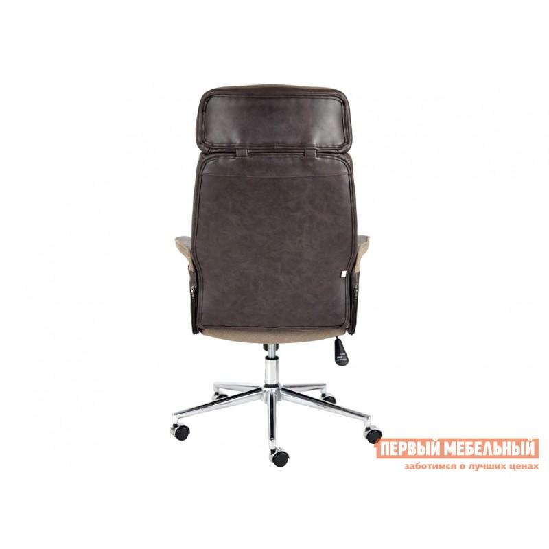 Офисное кресло  Кресло CHARM Экошерсть, кожзам / Коричневый, коричневый / 4230 (фото 4)