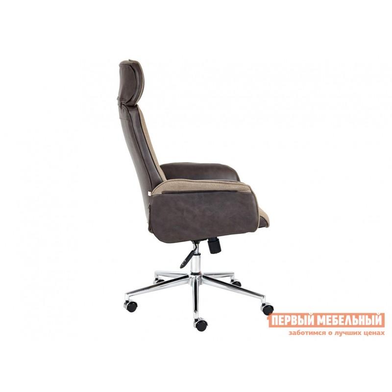 Офисное кресло  Кресло CHARM Экошерсть, кожзам / Коричневый, коричневый / 4230 (фото 5)
