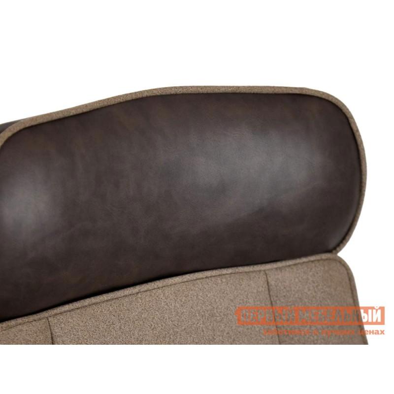 Офисное кресло  Кресло CHARM Экошерсть, кожзам / Коричневый, коричневый / 4230 (фото 6)