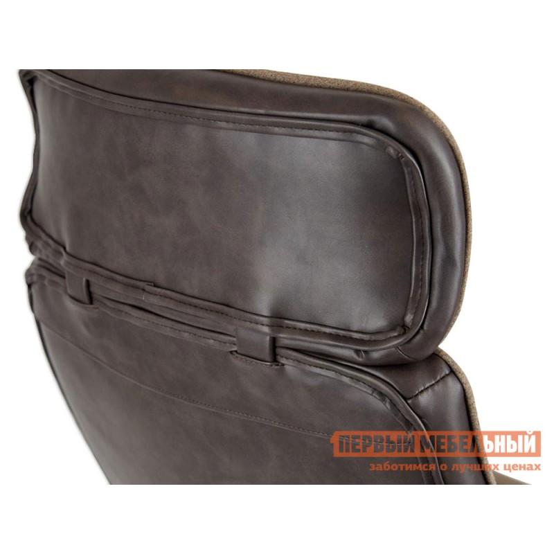 Офисное кресло  Кресло CHARM Экошерсть, кожзам / Коричневый, коричневый / 4230 (фото 7)