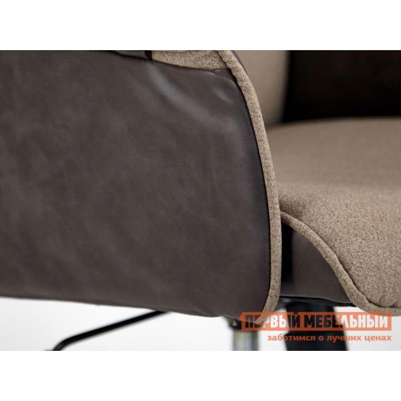 Офисное кресло  Кресло CHARM Экошерсть, кожзам / Коричневый, коричневый / 4230 (фото 9)