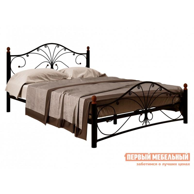 Односпальная кровать  Сандра Черный металл, 120х200 см