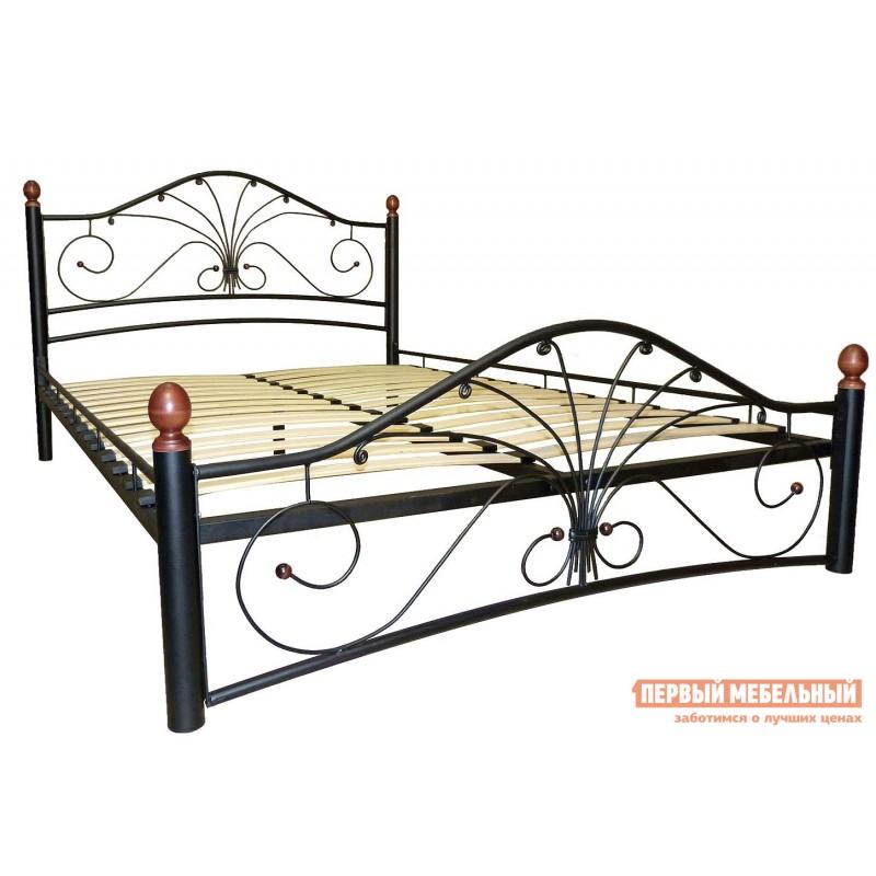 Односпальная кровать  Сандра Черный металл, 120х200 см (фото 2)