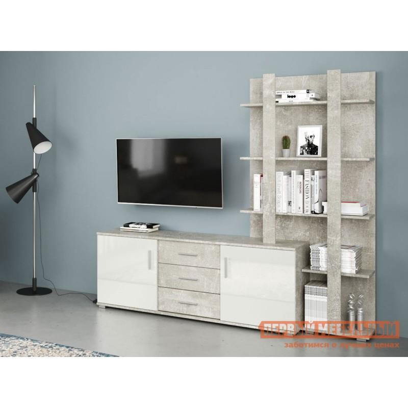 ТВ-тумба  МОНТАНА тумба под ТВ-200 71020127 Atelier светлый / Белый глянец