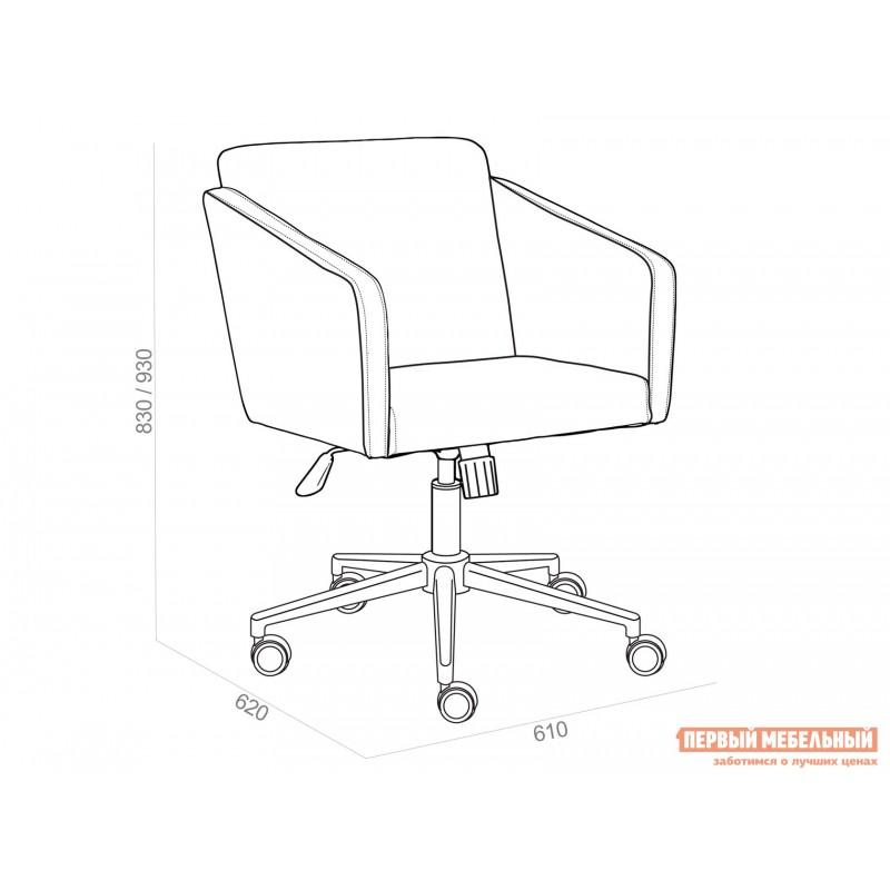 Офисное кресло  Офисное кресло MILAN Серый, флок (фото 7)