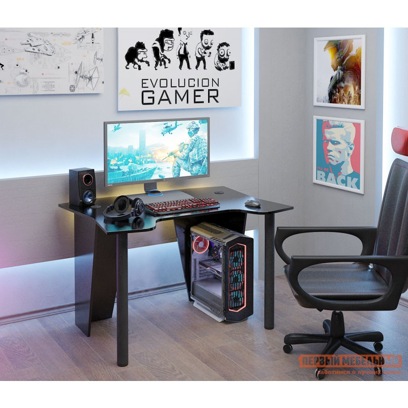 Компьютерный стол  Страйкер-2 Черный (фото 3)