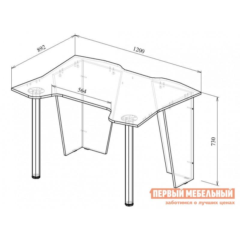 Компьютерный стол  Страйкер-2 Черный (фото 5)
