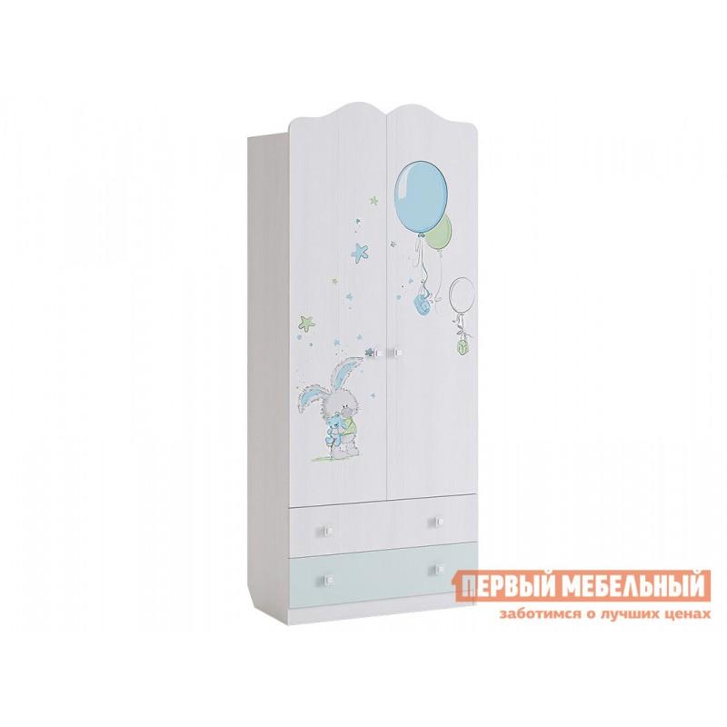Шкаф детский  MKB-01 Бонни Шкаф комбинированный (с ящ. 2-створчатый) Белый Рамух / Кэнди