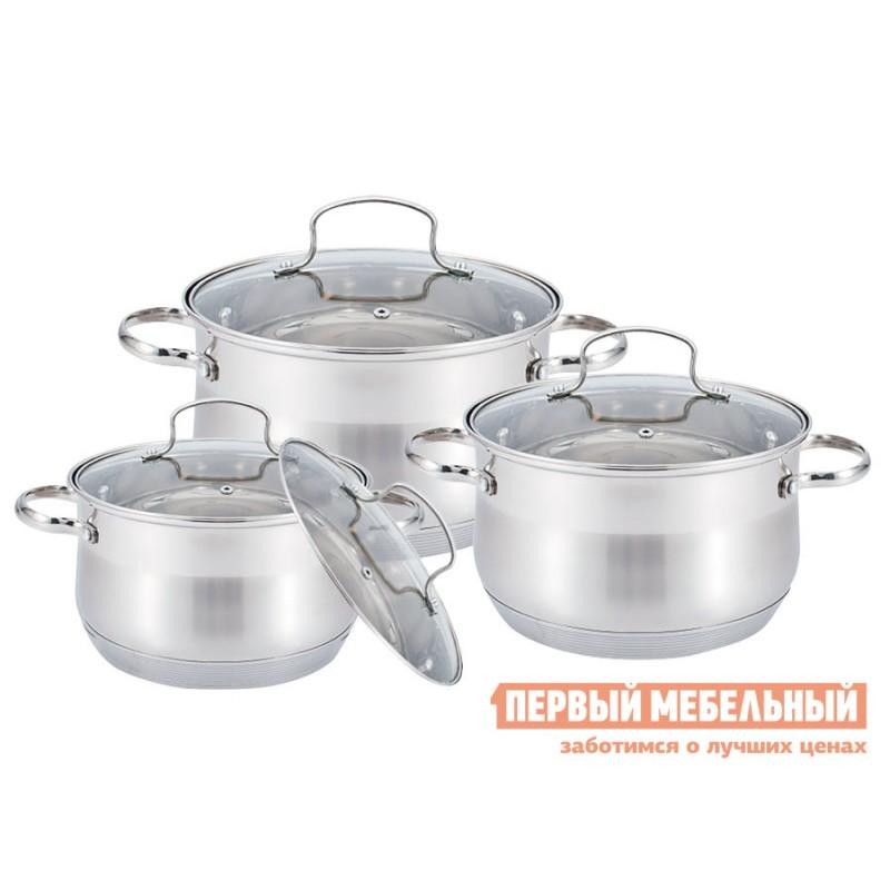 Набор кухонной посуды  MR-3512-6M Посуда Maestro 6 пр.ст.кр. Металлик, нержавеющая сталь
