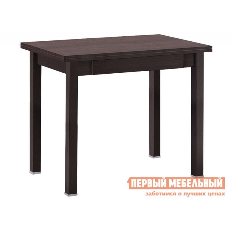 Кухонный стол  Стол обеденный раскладной прямая ножка с ящиком Венге