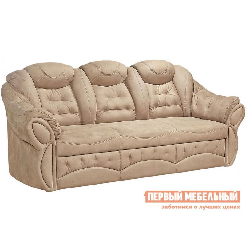 Прямой диван  Диван Маркус 3 Люкс Бежевый, искусственная замша