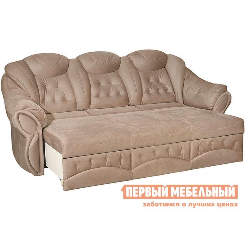 Прямой диван  Диван Маркус 3 Люкс Бежевый, искусственная замша (фото 2)