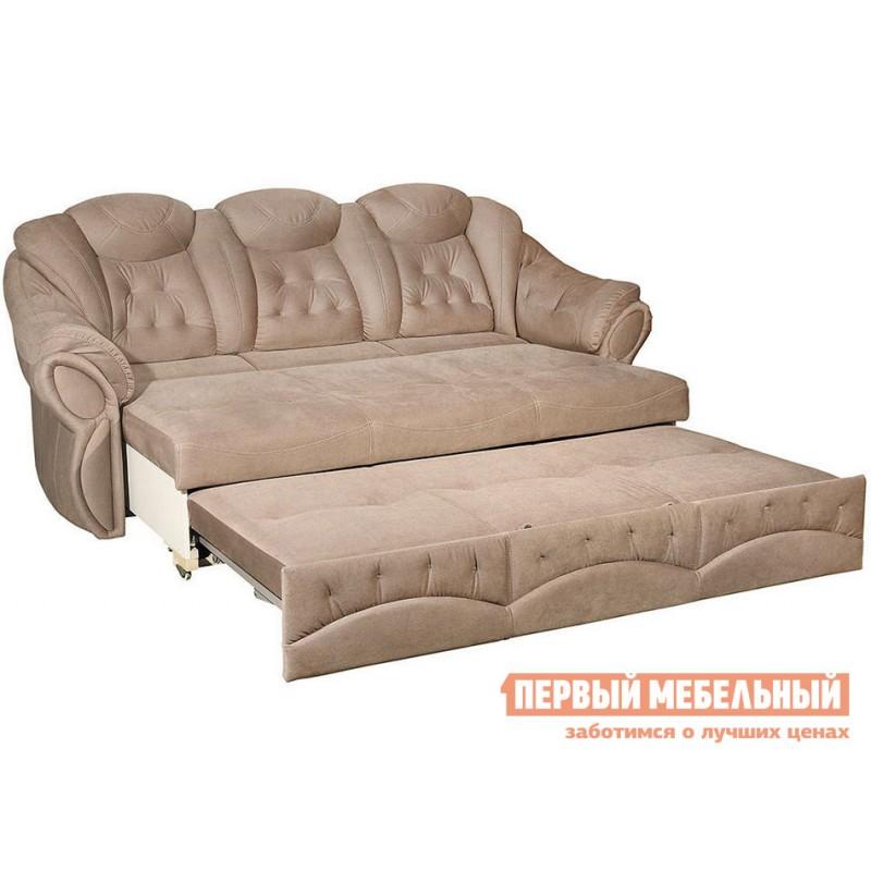 Прямой диван  Диван Маркус 3 Люкс Бежевый, искусственная замша (фото 3)