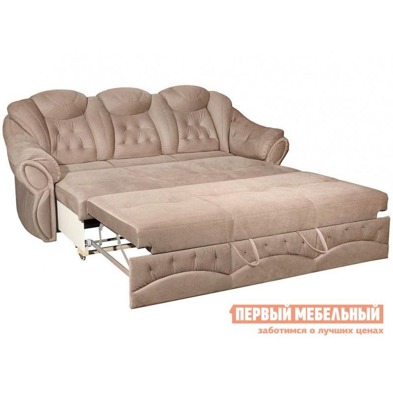 Прямой диван  Диван Маркус 3 Люкс Бежевый, искусственная замша (фото 4)