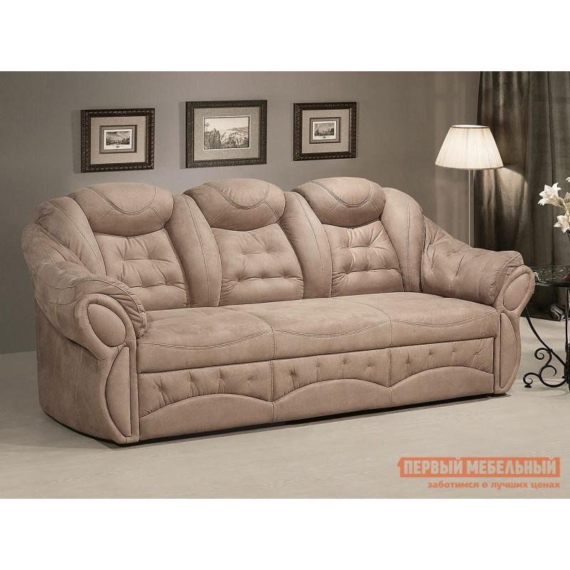 Прямой диван  Диван Маркус 3 Люкс Бежевый, искусственная замша (фото 7)