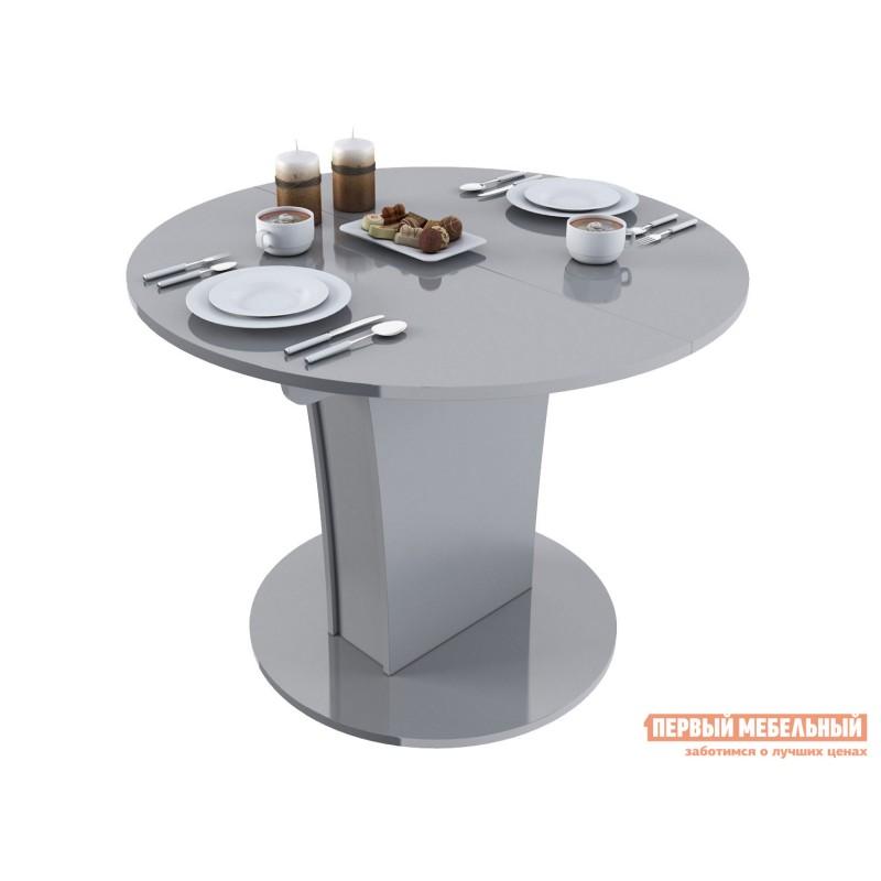Кухонный стол  Стол обеденный Бергамо 3 NEW круглый Серый глянец