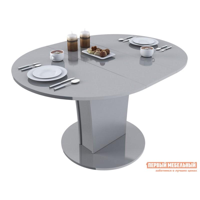 Кухонный стол  Стол обеденный Бергамо 3 NEW круглый Серый глянец (фото 2)