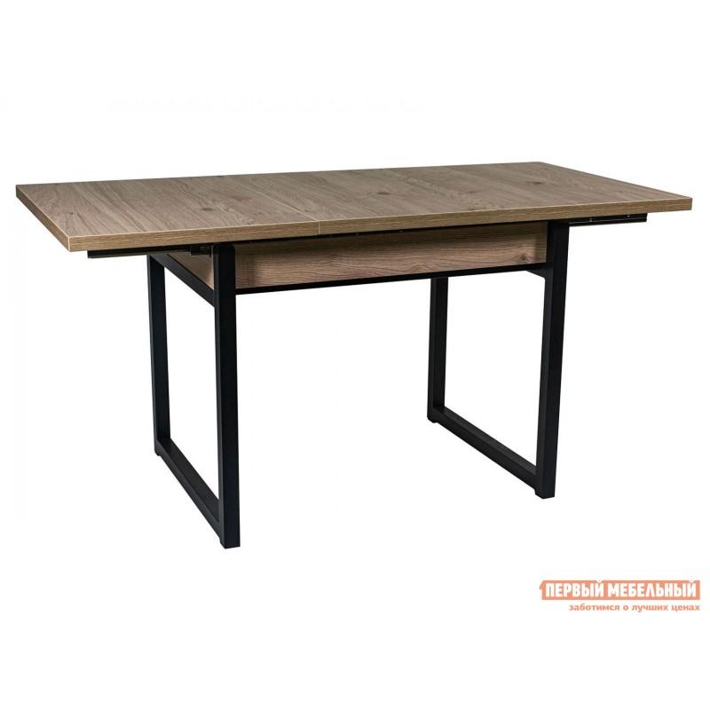 Обеденная группа для столовой и гостиной  Стол АРТ + 4 Стула Дункан Эврика ЛДСП / Pegas, экокожа / Черный матовый (фото 2)