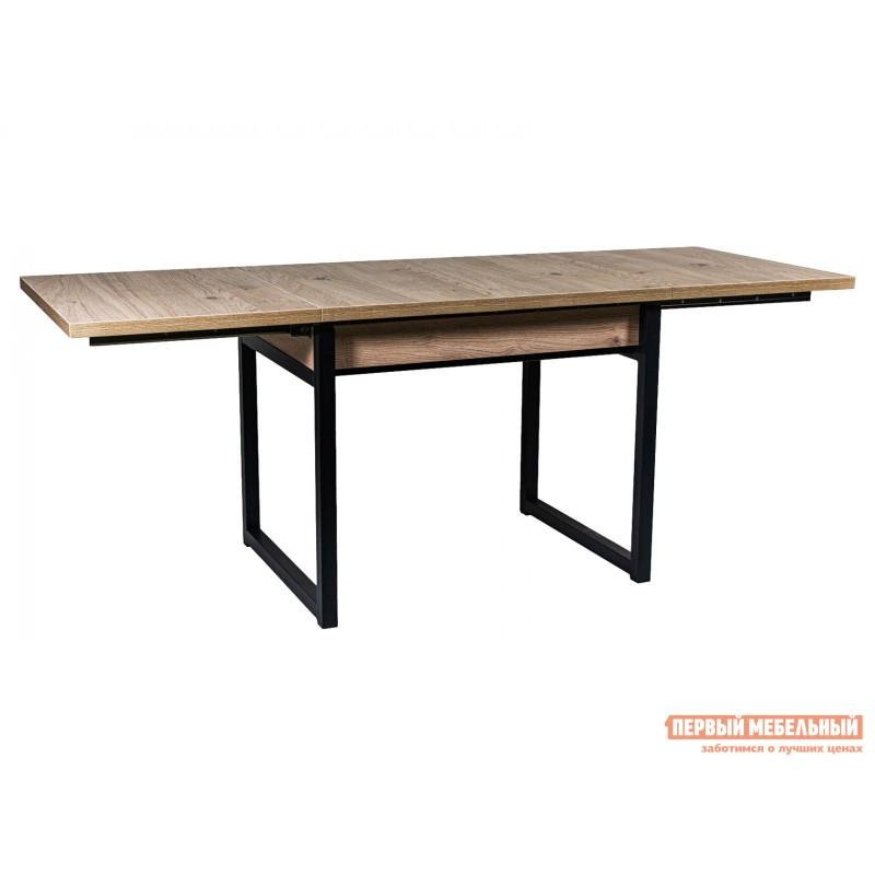 Обеденная группа для столовой и гостиной  Стол АРТ + 4 Стула Дункан Эврика ЛДСП / Pegas, экокожа / Черный матовый (фото 3)