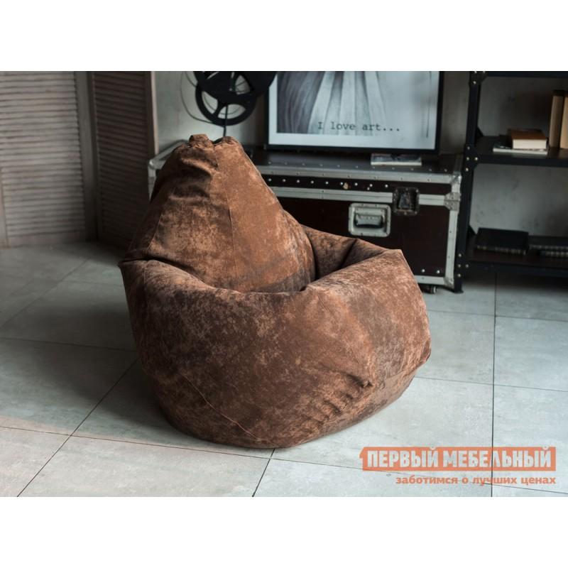 Кресло-мешок  Кресло-мешок Микровельвет Коричневый микровельвет, 2XL (фото 2)