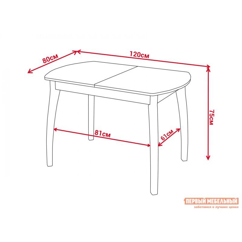 Кухонный стол  Обеденный стол Румба ПО КМ Белый 04 / Белый БЛ, Большой (фото 2)